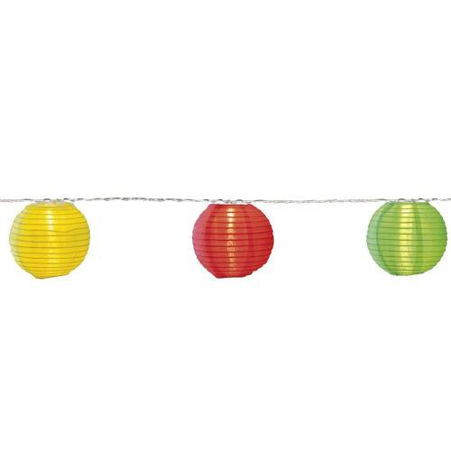 STAR TRADING LED-Lichterkette »LED Lichterkette 10 bunte Lampions mit warmweißen LED - 4,5m - inkl Trafo mit 10m Kabel«, 10-flammig