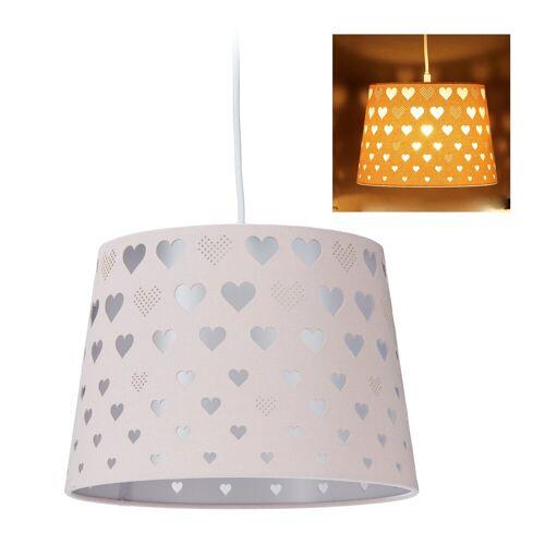 relaxdays Hängeleuchte »Kinderzimmerlampe mit Herzen«