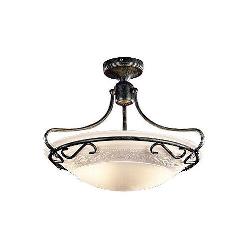 Home affaire Deckenleuchte, Deckenlampe Ø 40 cm, Landhaus, Alabaster-Optik