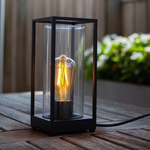 LUTEC LED Außen-Tischleuchte »Flair mit Glaszylinder«