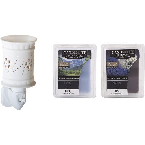 Candle-lite™ Duftlampe »Lexie« (Set, Nachtlicht inklusive 2x Duftwachswürfel), Elektronisches Duftlampen-Set