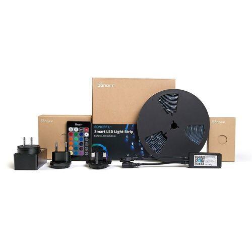 Sonoff LED Lichtleiste »L1-5M Smart RGB Leiste LED Lichtleiste 5 m RGB Wi-Fi schwarz (IM180529002)«