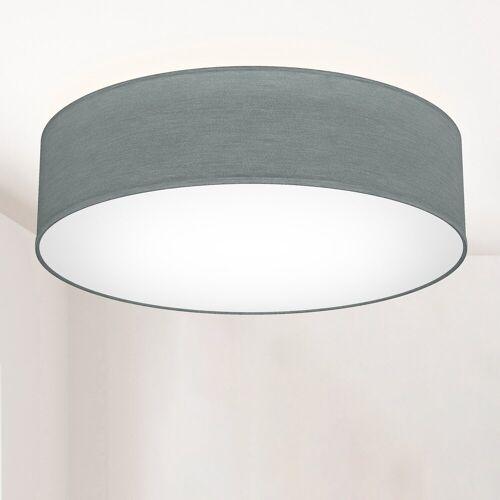 B.K.Licht LED Deckenleuchte, E27 mit Textillampenschirm