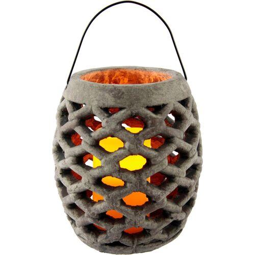 I.GE.A. Laterne »Keramik Windlicht mit LED«, Maße (H): 22 cm