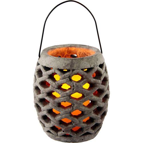 Laterne »Keramik Windlicht mit LED«, Maße (H): 17 cm