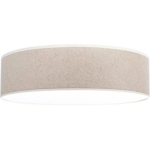 OTTO products Deckenleuchte »Emmo«, Deckenlampe mit hochwertigem Leinen - Schirm Ø 48 cm, mit Magnetbefestigung, Made in Europe, geeignet für LM E27 (exklusive)
