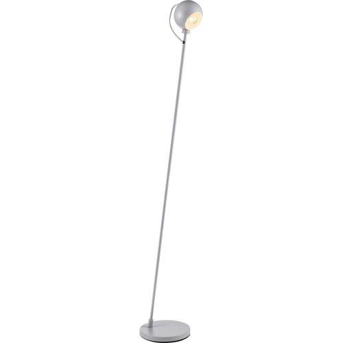 andas Stehlampe »COLTON«, Lampenschirm mit Magnethalterung felxibel verstellbar, Fußschalter, grau