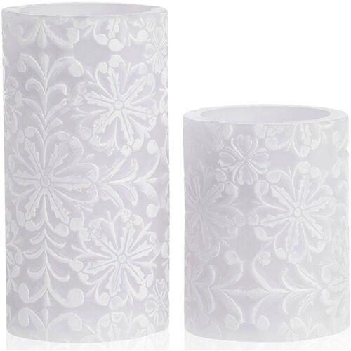 Pauleen LED-Kerze »Wachskerze Little Lilac Candle 2er Set« (2-tlg)