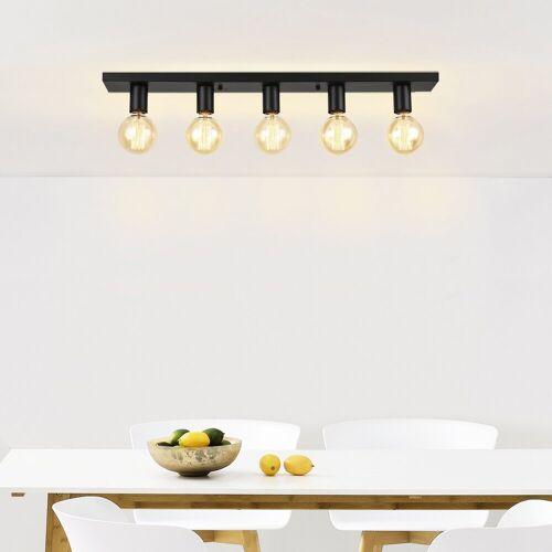 lux.pro Deckenleuchte, Moderne Retro Deckenlampe »Korinth« - 5x E27