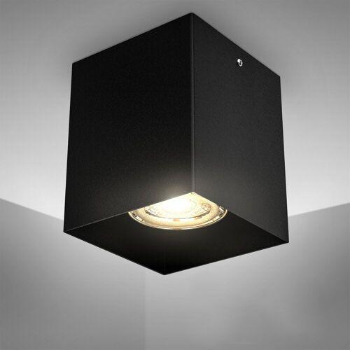 B.K.Licht LED Aufbaustrahler, LED Aufbauleuchte Deckenspot Strahler Deckenlampe metall schwarz exkl. GU10