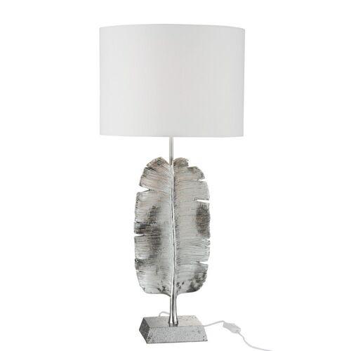 J-line Nachttischlampe »Design Tischlampe Feder Silber 72cm«