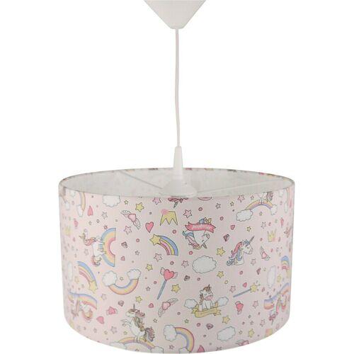 NIERMANN Hängeleuchten »Lampenschirm Einhorn, rosa«