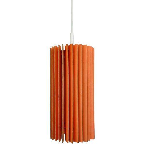 Wodewa Set: Pendelleuchte »Holzlampe Lux«, LED, 1-flammig, 14 x 30 cm, rot