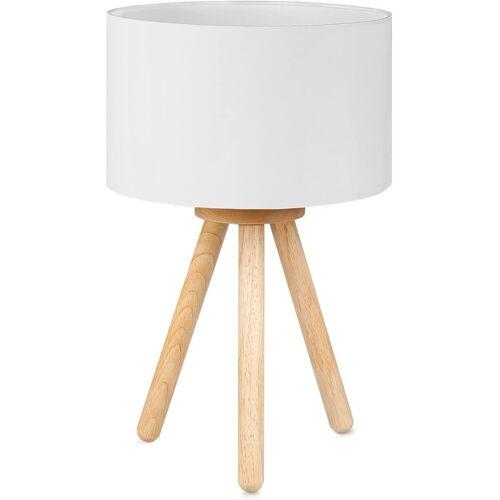 Tomons LED Nachttischlampe »LED Nachttischlampe aus Holz mit 4W LED«, Weiß