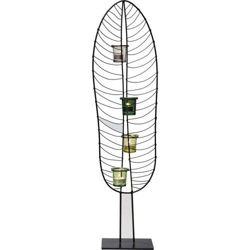 KARE Kerzenständer »Teelichthalter Leaf Wire 86cm«