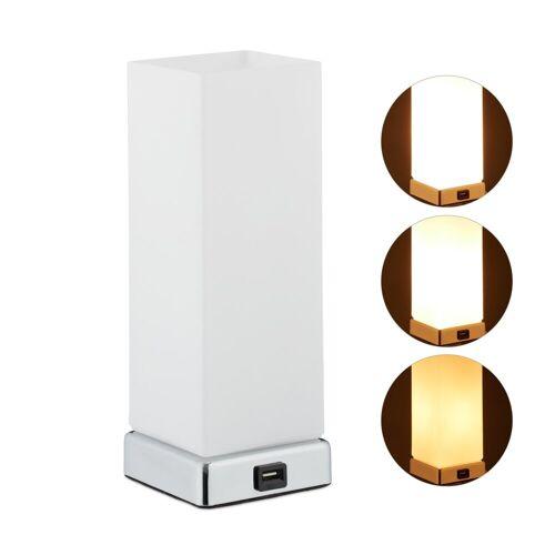 relaxdays Nachttischlampe »Dimmbare Nachttischlampe mit Touch«