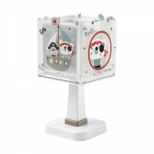 Dalber Nachttischlampe »Tischlampe Weltkarte«, rot/weiß