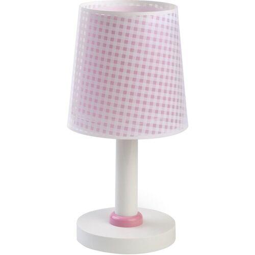 Dalber Nachttischlampe »Tischlampe Vichy, blau«, rosa