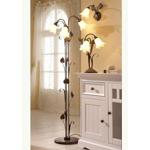 Braun Stehlampe »Florentiner«, braun-goldfarben