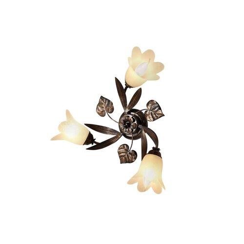 Braun Deckenleuchte »Florentiner«, Deckenlampe, braun-goldfarben