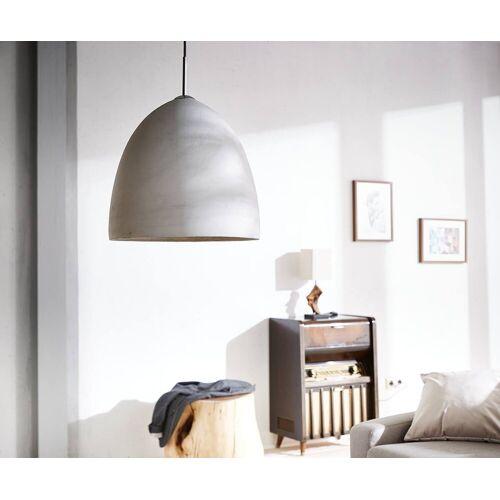 DELIFE Hängeleuchte »Ciril«, Grau 38x38 cm Rund Beton Hängeleuchte