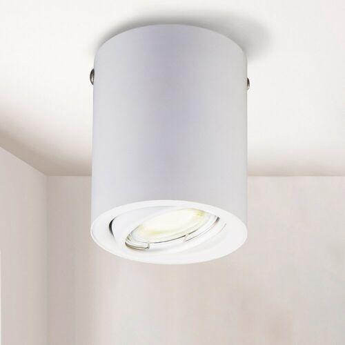 B.K.Licht LED Aufbaustrahler, LED Aufbauleuchte schwenkbar inkl. 5W 400lm GU10 3.000K Deckenspot weiß