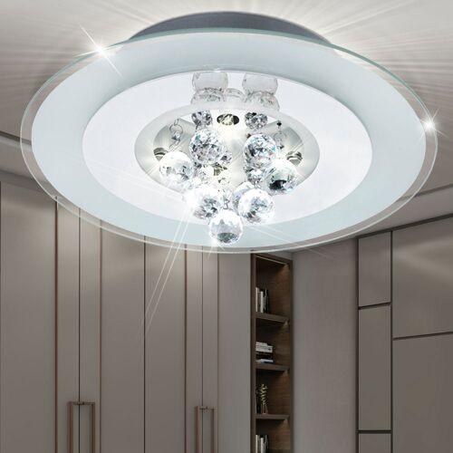 etc-shop Deckenleuchte, Design Decken Lampe Kristall Kugel Luster Leuchte im Set inklusive LED Leuchtmittel