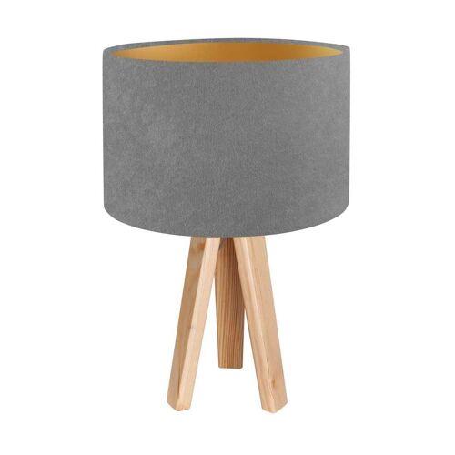 Kiom Tischleuchte »Tischlampe Jalua T grey & gold Holz Dreibein«