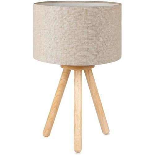 Tomons LED Nachttischlampe »LED Nachttischlampe aus Holz mit 4W LED«, Leinen
