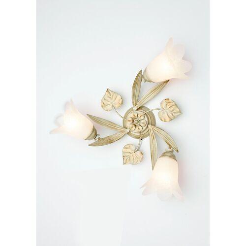 Deckenleuchte »Florentiner«, Deckenlampe, elfenbeinfarben-goldfarben