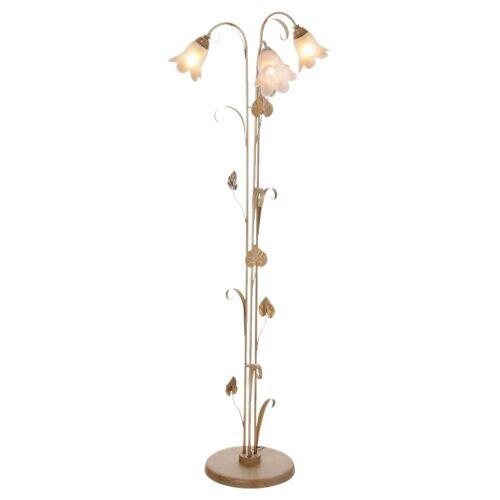 Stehlampe »Florentiner«, elfenbeinfarben-goldfarben