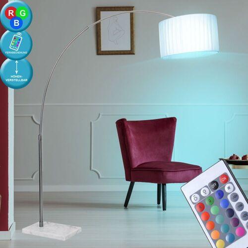 etc-shop Stehlampe, 7 Watt RGB LED Steh Leuchte Plissee Bogen Stand Lampe Farbwechsel Decken Fluter