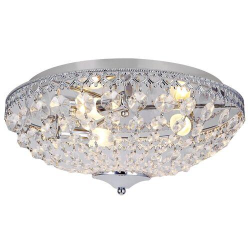 lux.pro Deckenleuchte, »Molde« Kristalleuchte Deckenlampe Ø40cm