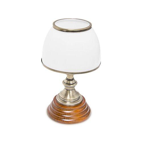 relaxdays Tischleuchte »Tischlampe Glasschirm klassisch«