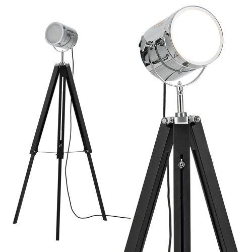 lux.pro Stehlampe, »Tripod« Studio-Scheinwerfer Industrial Design Höhe 140cm