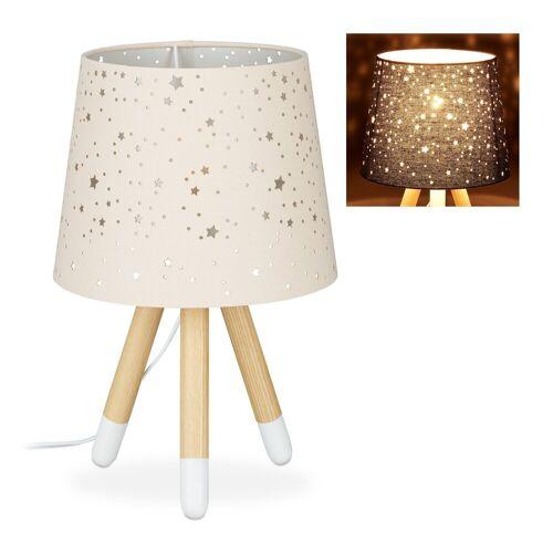 relaxdays Tischleuchte »Tischlampe Kinderzimmer Sterne«, Rosa
