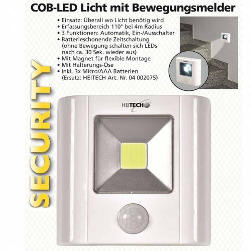 HEITECH »Bewegungsmelder mit dem COB-LED Licht Automatik, E« Bewegungsmelder