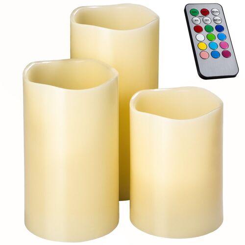 tectake LED-Kerze »LED-Kerzen mit Fernbedienung und Farbwechsel«