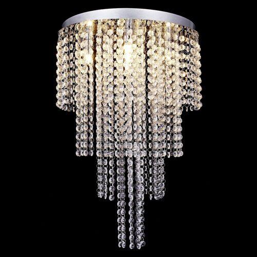 lux.pro Deckenleuchte, »Venezia« Kronleuchter mit Kunstkristallen - 5xG9