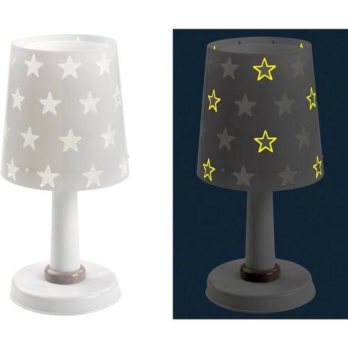 Dalber Nachttischlampe »Tischlampe STARS, Glow in the dark, grau«, grau