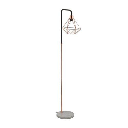 relaxdays Stehlampe »Kupfer Stehlampe mit Diamant-Schirm«