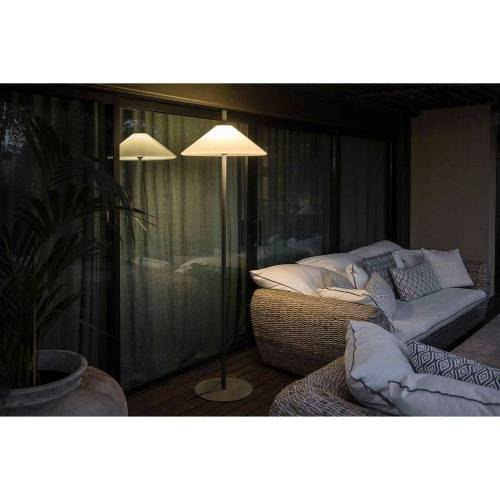 FARO Barcelona LED Außen-Stehlampe »Terrassenlampe 190cm IP65 Grau, Weiß«