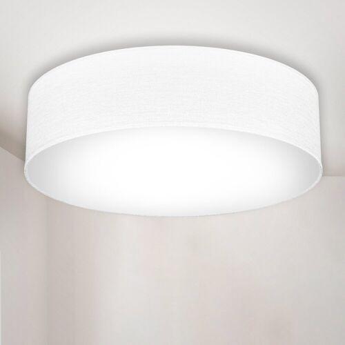B.K.Licht LED Deckenleuchte, LED Deckenlampe Stoff Textil Lampenschirm Wohnzimmerlampe Schlafzimmer E27