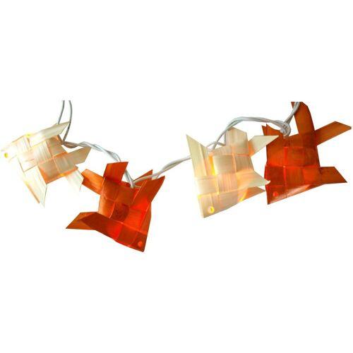 Guru-Shop LED-Lichterkette »Lichterkette `mare` - weiß,orange«, weiß,orange