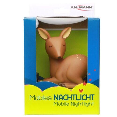 Ansmann Einschlafhilfe »Mobiles Nachtlicht Reh Mobile, die LED-LICHT Einsc«