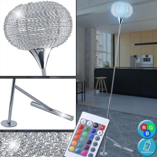 etc-shop Stehlampe, 7 Watt RGB LED Steh Leuchte Farbwechsel Stand Lampe Dimmer Büro Beleuchtung