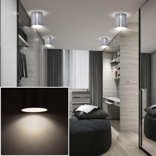 etc-shop LED Einbaustrahler, 4x LED Aufbau Leuchte Wohn Zimmer Beleuchtung ALU Strahler Lampe weiß im Set inkl. LED Leuchtmittel