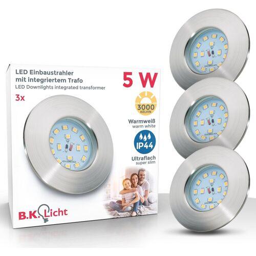 B.K.Licht LED Einbauleuchte »Elias«, LED Einbaustrahler ultra-flach Badezimmer IP44 Decken-Spot GU10 3er SET