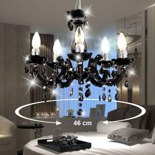 etc-shop Kronleuchter, Kronleuchter Luster Hänge Leuchte Decken Lampe im Set inklusive LED Leuchtmittel