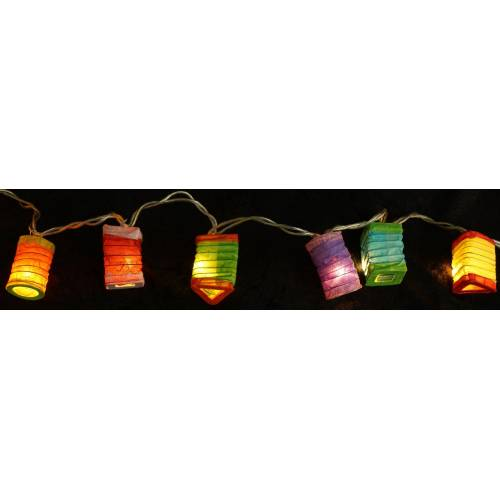 Guru-Shop LED-Lichterkette »LED Lichterkette Lampions - mix/ bunt«, mix/ bunt